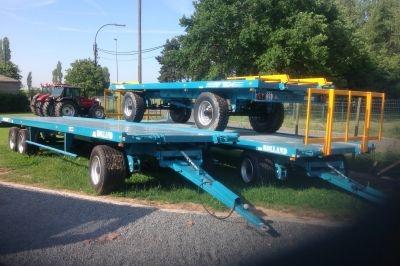Rolland platte wagens
